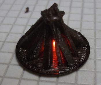 Flickering Bonfire
